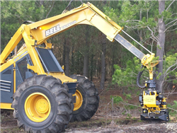 Skidder met GMT Equipment velkop